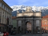 Triumphal Arch (Triumphpforte) and Maria-Theresien-Strasse in Innsbruck