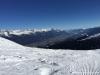 Ski area Axamer Lizum with view on Innsbruck city