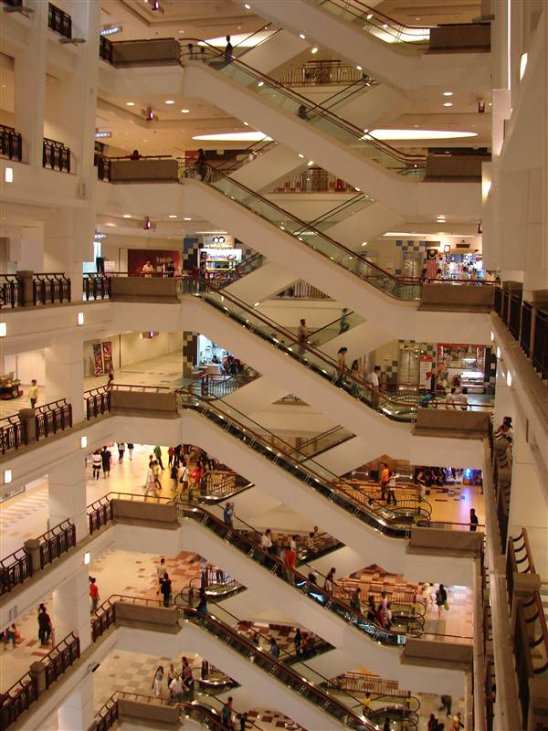 Travel to kuala lumpur malaysiaall about travelling escalators in shopping centre berjaya times square kuala publicscrutiny Images