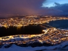 View of Tromso from the gondola restaurant