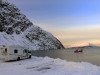 Overnight camping place in the Lyngen Alps