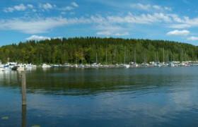 Harbor in Lahti, Finland