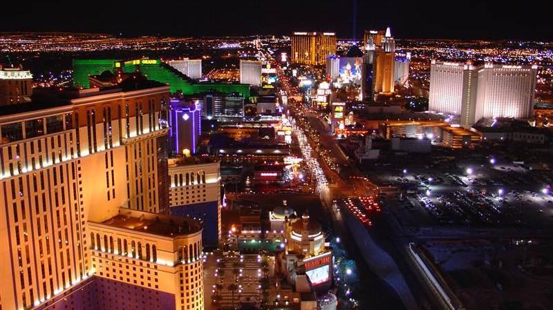 Picture of Las Vegas taken from Hotel Paris