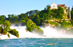 Travel to Rhine waterfalls