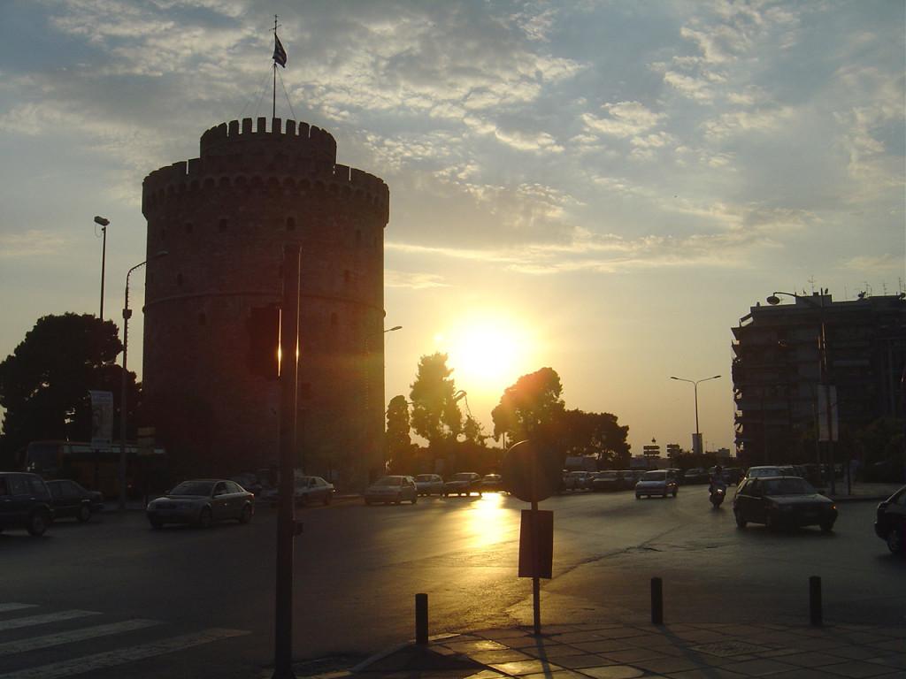 Lefkos Pyrgos is the symbol of Thessaloniki (Nothern Greece)