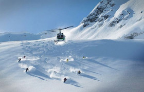 Heli skiing in BC Canada