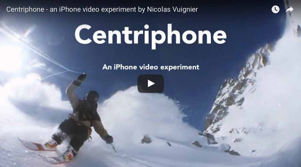 Centriphone – An iPhone video experiment on skis