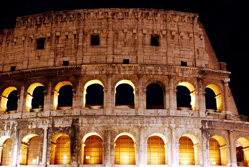 Visit the Colosseum at night